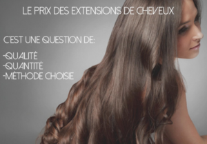 Prix extensions cheveux