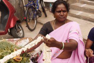 marché aux fleurs inde