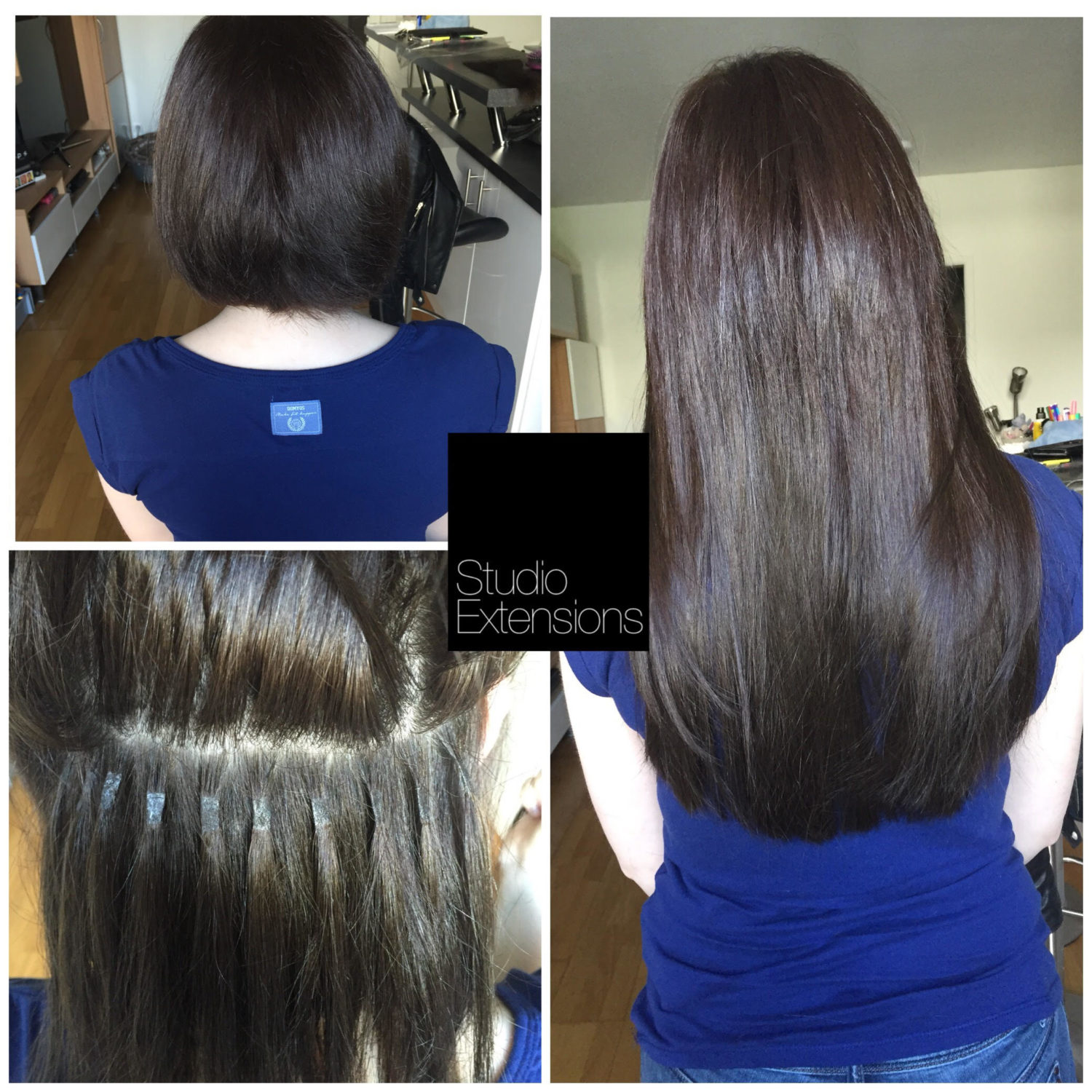 Extension cheveux naturel keratine paris