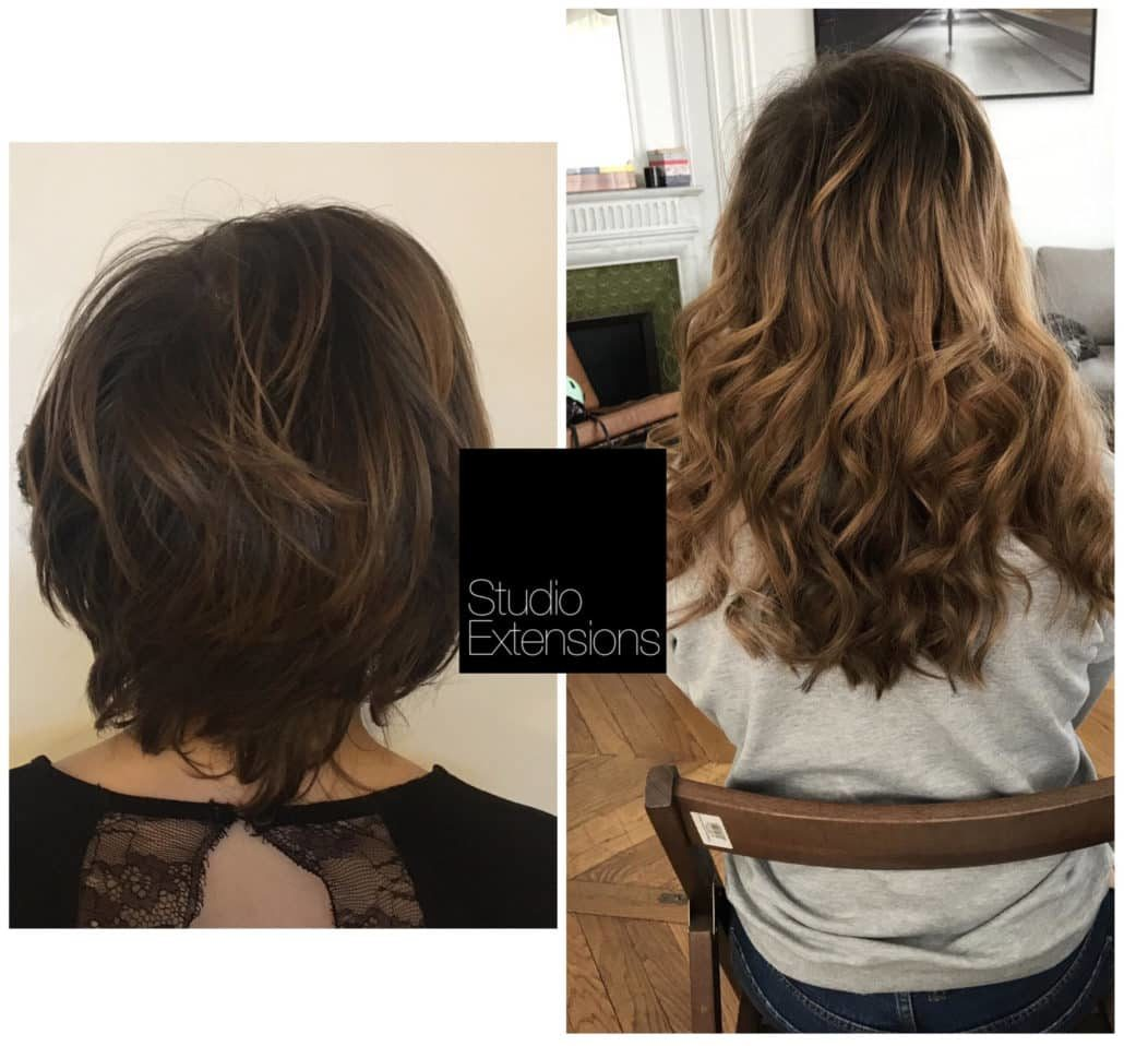 Extension de cheveux court