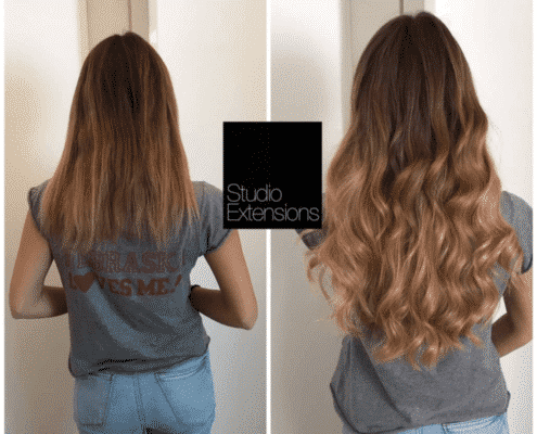couleur extension de cheveux