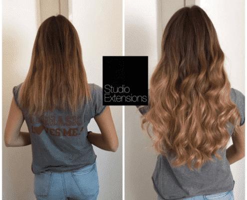 couleur extension de cheveux