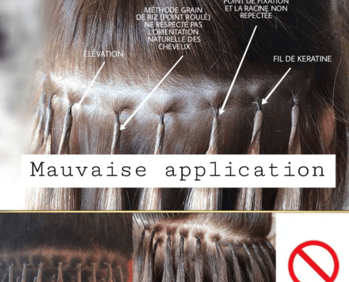 Mauvaise pose d'extensions