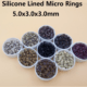 Anneaux en silicone extensions